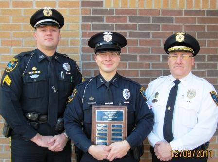 Sgt. Greg A. Patchin, Officer Norman L. LaBonte and Chief Brian A. Hill