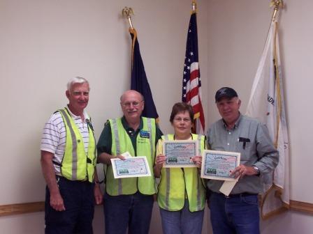 Don Granzine Gerrish Township CERT Coordinator, CERT Members Leonard Weismiller, Noreen Weismiller and Stan Baysdell.